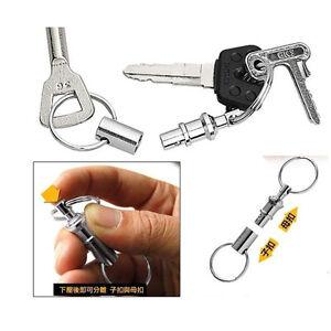 2pcs-Detachable-Key-Rings-Double-head-EDC-Key-Chain-Outdoor-Camping-Equipment