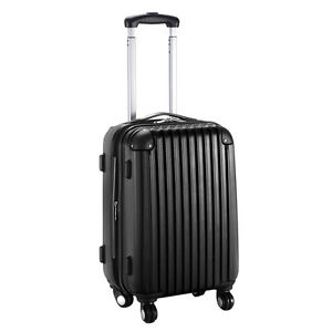 GLOBALWAY-20-034-Expandable-ABS-Carry-On-Luggage-Travel-Bag-Trolley-Suitcase-Black