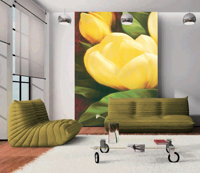 3D Schönes Gelb Blaumen 743 Tapete Wandgemälde Tapete Tapeten Bild Familie DE