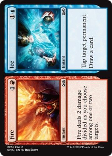 English -BFG- MTG Magic Fire //// Ice x1 Foil 1x Ultimate Masters Near Mint