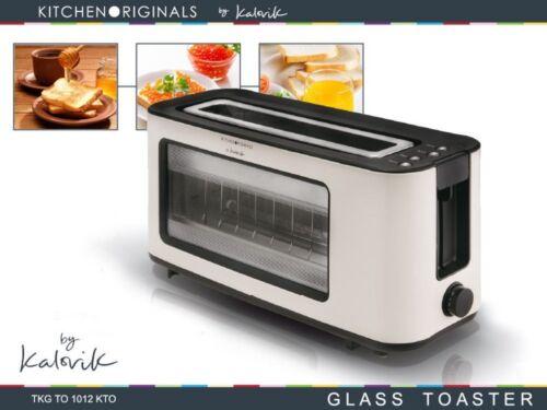 Design Glastoaster Langschlitz Toaster Brotröster 1100 W Infrarot Quartz*30420