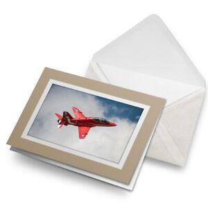 Greetings-Card-Biege-Red-Arrows-Plane-RAF-14551
