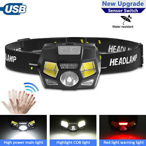6-Modes-USB-Rechargeable-COB-LED-Headlamp-Headlight-Head-Light-Torch-Flashlight