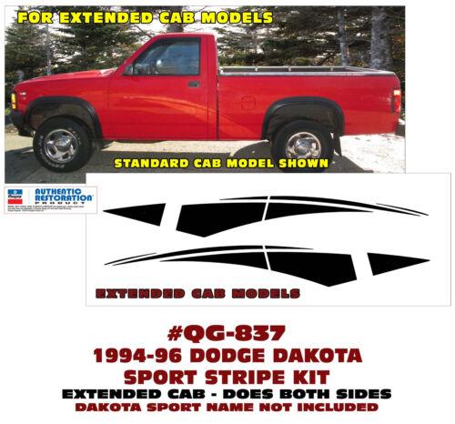 QG-837 1994-96 DODGE EXTENDED CAB DAKOTA SPORT STRIPE LICENSED