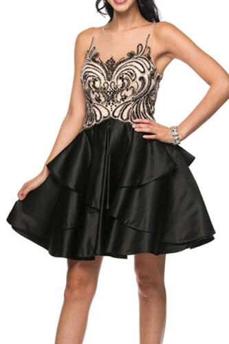 COCKTAIL SEMI FORMAL DESIGNER DRESS PROM DANCE GRADUATION SWEET 16 HOMECOMING