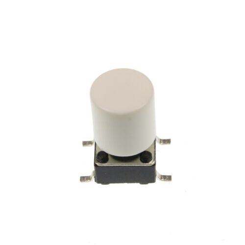 A56 tactile Cap /& commutateur momentané bouton poussoir-Plat Rond Extracteur 6 Couleurs