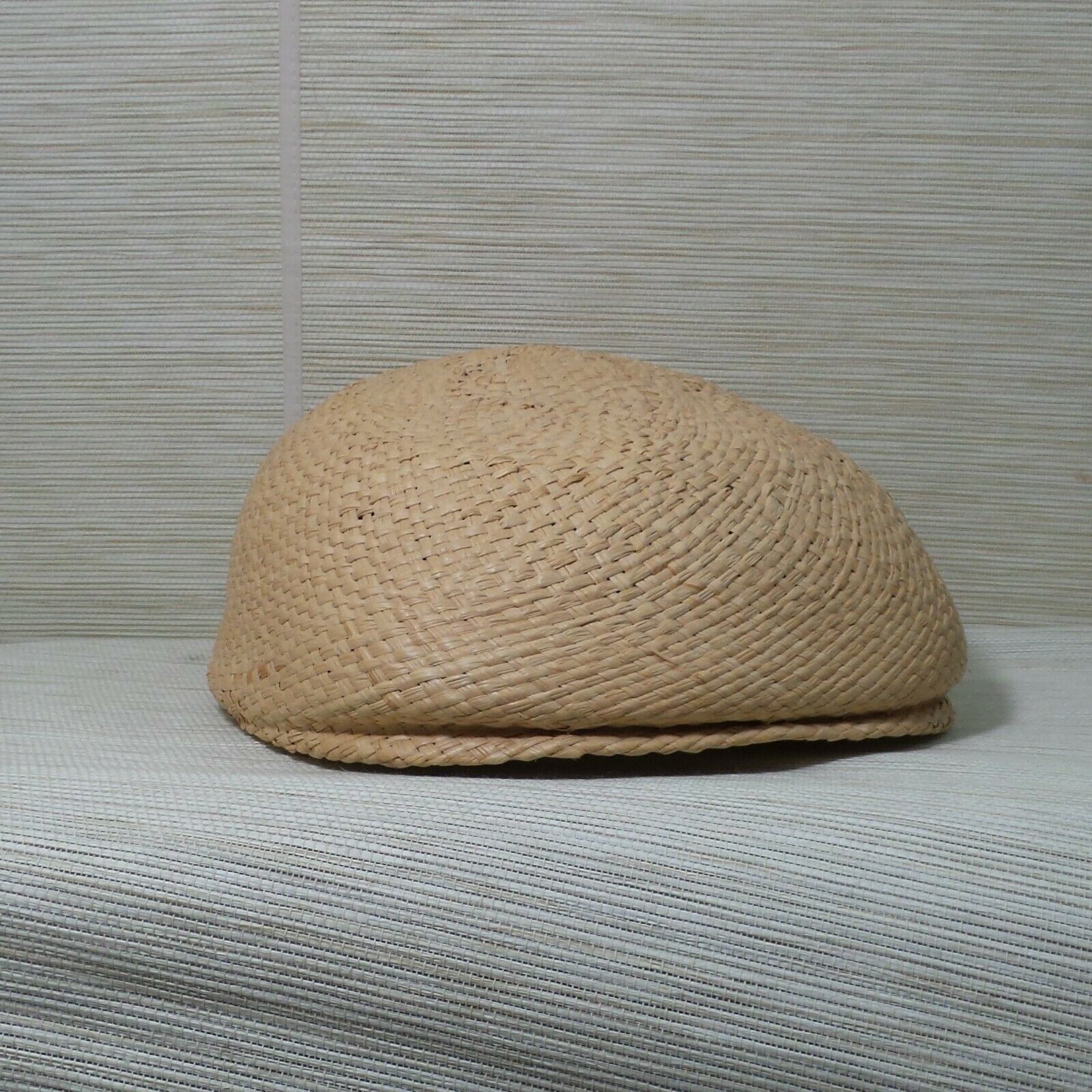 Straw Cabbie Hat Cap Union Made Natural Newsboy M… - image 10