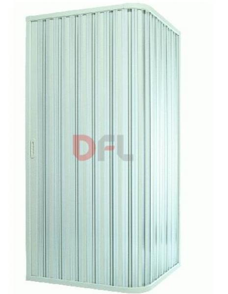BOX DOCCIA AD UNA PORTA PVC BIANCO CM. 90x90 - H 185 ARrougeO BAGNO
