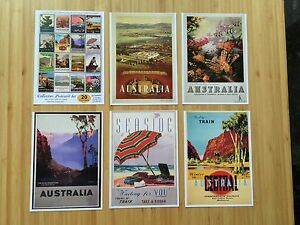 AUSTRALIA-THEME-VINTAGE-SET-OF-20-TRAVEL-POSTCARDS-UNIQUE-COLLECTORS-EDITION