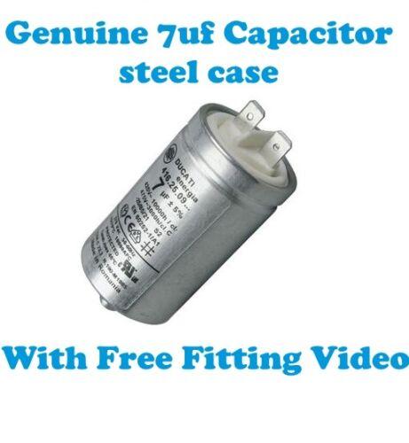 Genuine Tumble Dryer 7Uf Capacitor UK Indesit IDV 65 AUS IDV 65