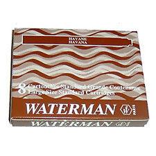 Waterman Fountain Pen Ink Cartridges - Brown x 32