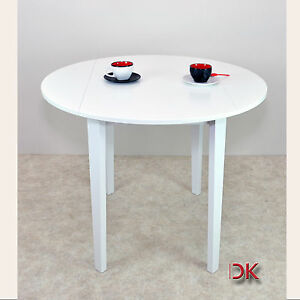 Küchentisch Rund Weiß : esstisch tisch rund 92cm klappbar k chentisch hevea holz wei platte mdf modern ebay ~ Eleganceandgraceweddings.com Haus und Dekorationen