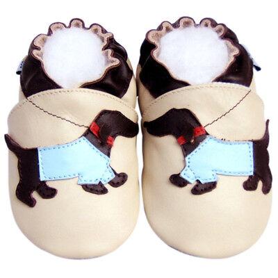 Littleoneshoes SoftSole Leather Baby Infant Kid Children WienerDog Shoes 12-18M