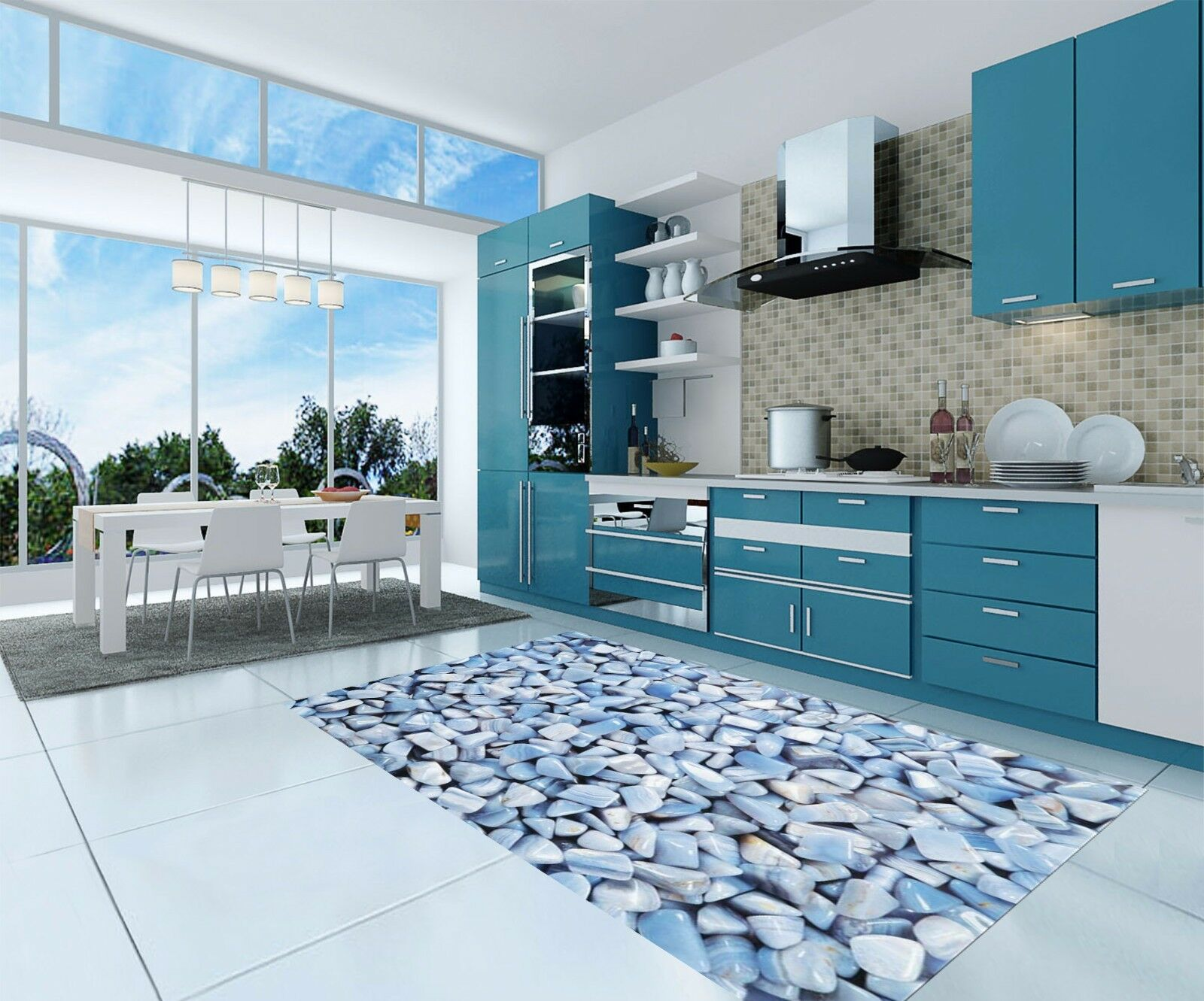 3D Stylish Stones Kitchen Mat Floor Murals Wall Print Wall Deco AJ WALLPAPER AU