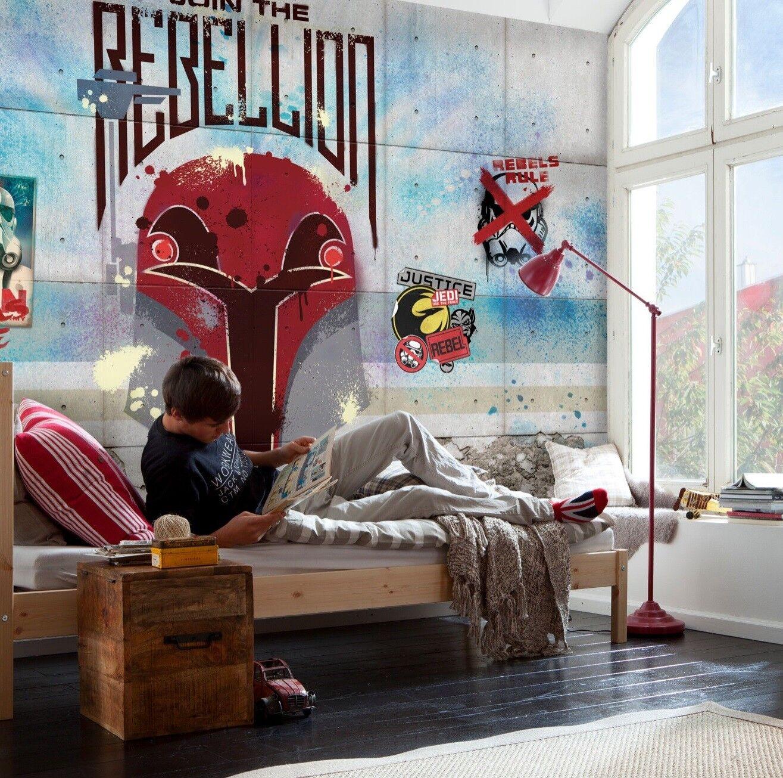 Star Wars Graffiti Photo Wallpaper 368x254cm Bedroom Wall Mural No Adhesive For Sale Online Ebay