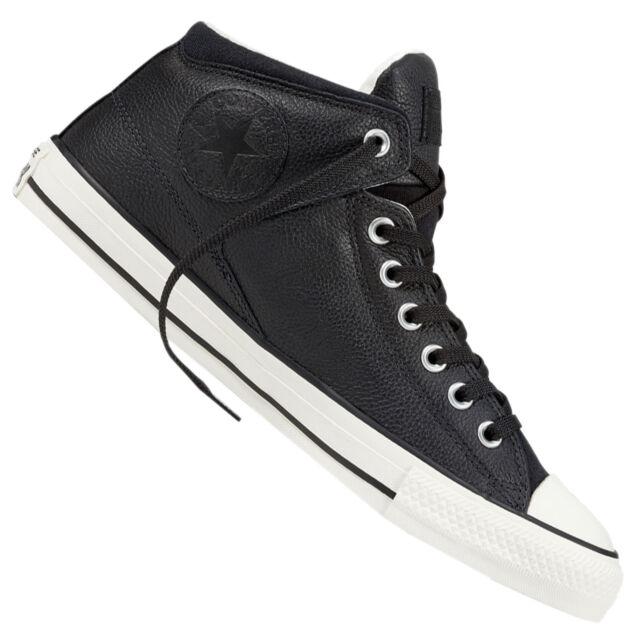 ad8cfc2b008 Converse Chuck Taylor All Star High Street Leather Black Ivory Men ...