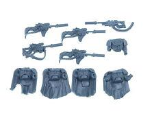 Space Marine Scouts Sniper - Torsos mit Scharfschützengewehren 5x - Big Pack