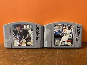 NHL Breakaway & MLB All-Star Nintendo 64 N64 Game Tested / Authentic Working