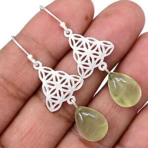 Prehnite-925-Sterling-Silver-Earrings-Jewelry-AE100334-122R