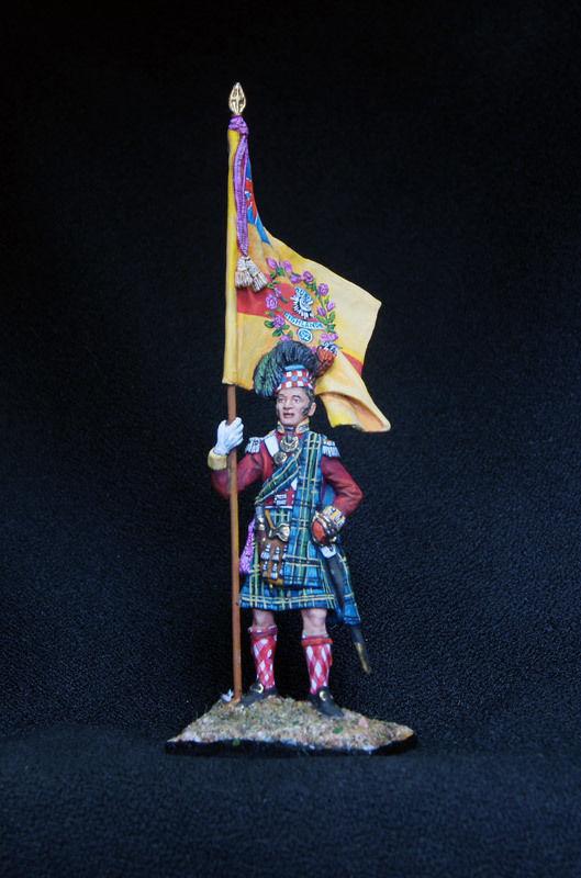Russian Lead Miniatures.Standartbearer . 92 gordon highlanders Regiment of foot.