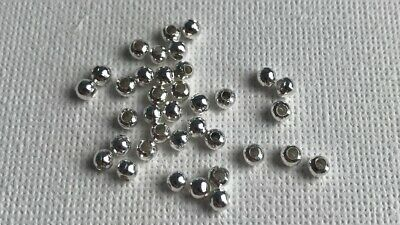 Bulk Small Silver Plated Jewellery Making Bracelets 50 Star Spacer Beads 6mm