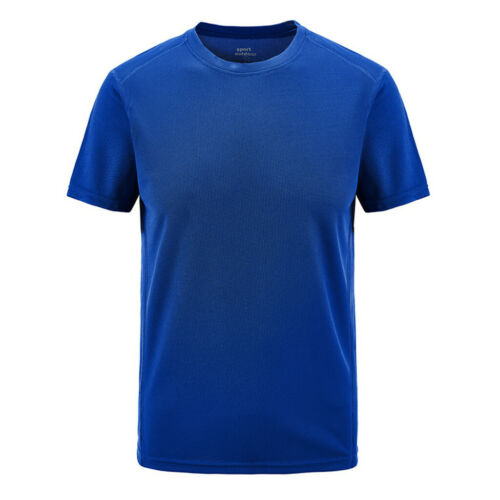 Plus Size Men Summer Casual Fast-Dry Blouse Breathable Outdoor T-shirt Sport Top