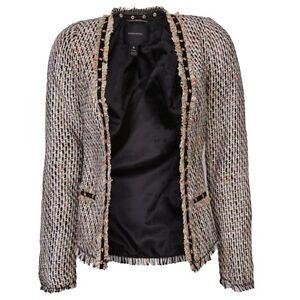 Maison-Scotch-Fashion-Blazer-In-Multi-Colour-Tweed