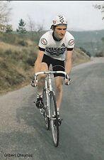 CYCLISME carte cycliste GILBERT CHAUMAZ équipe PEUGEOT ESSO MICHELIN 1981