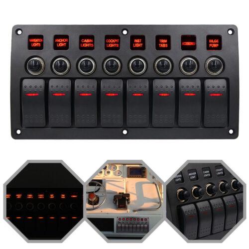 6 Gang LED Schalttafel Schaltpanel Schalter Schalttaf 12V-24V Marine Bus Boot RV