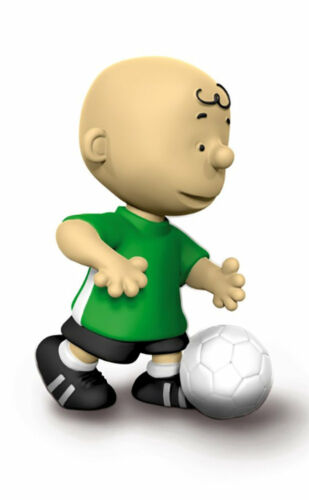 Footballer Soccer Charlie Brown 2 inch Figurine Peanuts Miniature Figure 22078