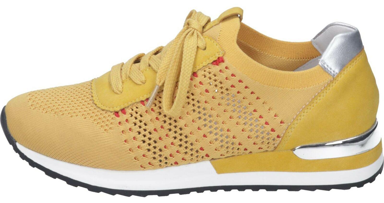 Remonte ladies trainers yellow combi