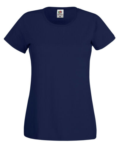 Fruit Of The Loom LADIES T-SHIRT PLAIN BASIC LADY FIT TOP COTTON XS-2XL OFFER
