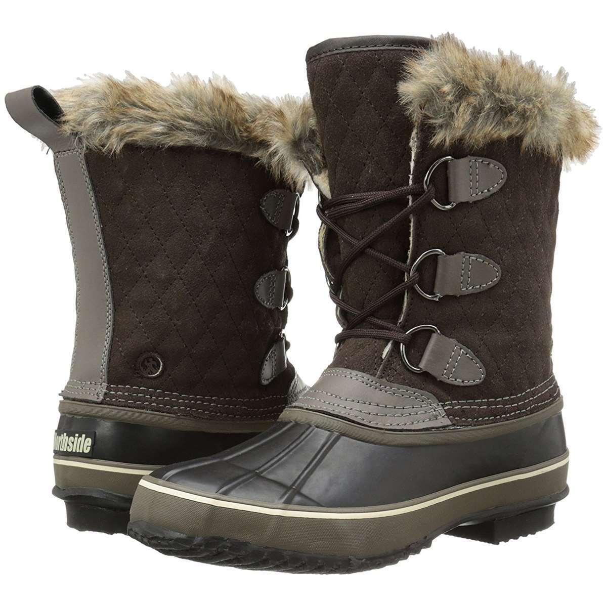 Damen Schneestiefel Northside Mont Stiefel Blanc Winter Kaltes Wetter Stiefel Mont Neu 0657ae