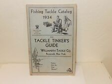VINTAGE 1934 FISHING TACKLE CATALOG REELS LURES RODS & MORE Willmarth Tackle NY