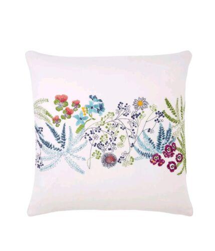 "NEW Yves Delorme Enfleur Decorative 17/"" Square Pillow"