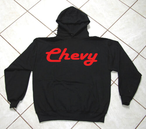 Chevy S 4XL Auto Racing 50 // 50 Blend Black Sweat Shirt Motor Sports
