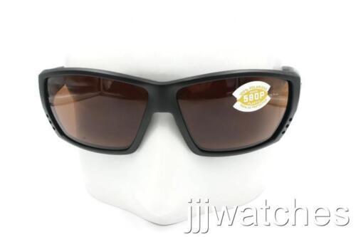 Costa Del Mar TUNA ALLEY Matte Black Copper Polarized Sunglasses TA 11 OCP $169
