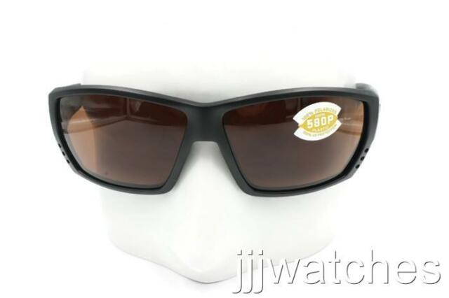 e01d049f76a88 Costa Del Mar TUNA ALLEY Matte Black Copper Polarized Sunglasses TA 11 OCP   169