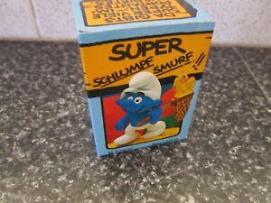 Smurf-Butterfly-Catcher-Super-Smurf-vintage-Rare-e