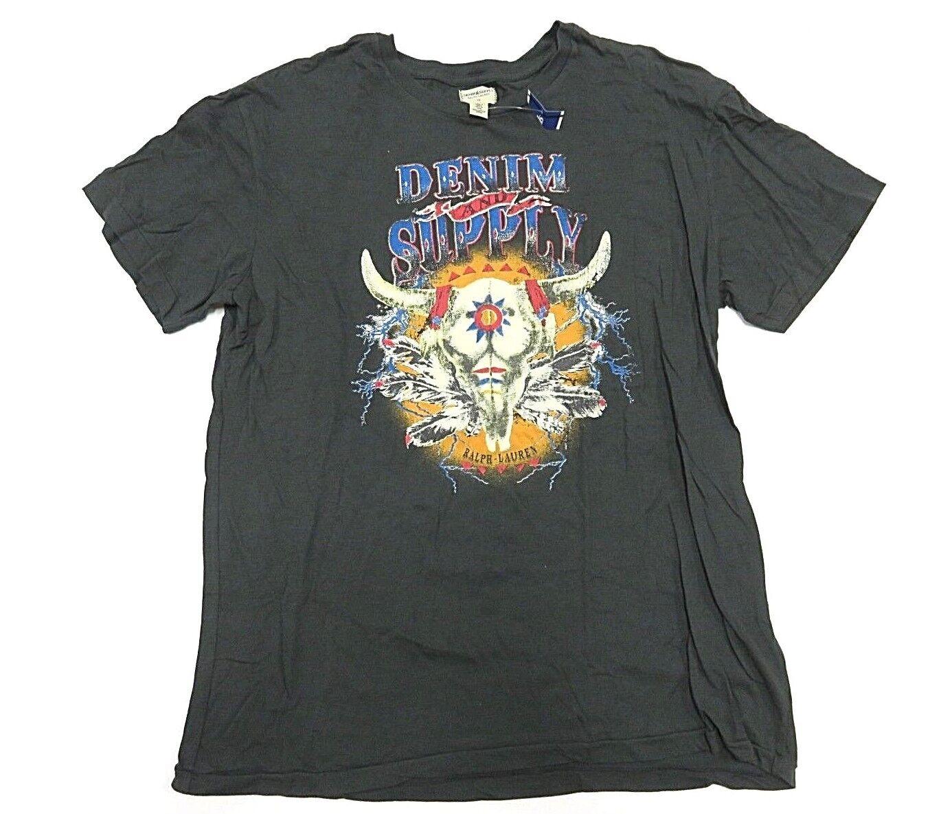 Denim & Supply by Ralph Lauren Western Theme Graphic Shirt Men's Size Medium