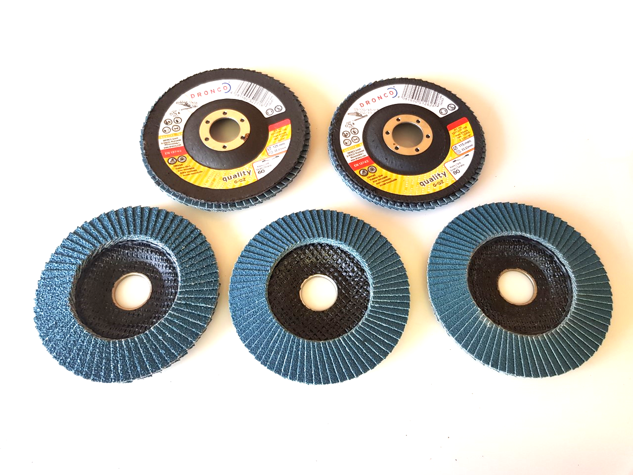 80 Grit Dronco Zircon Power 115mm Zirconium Flap Disc Quality 40 60