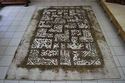 "Area Rugs Handgeknüpfter Designer Vintage Teppich ""labyrinth"" 336x243 Tapis Carpet Beautiful Neu"
