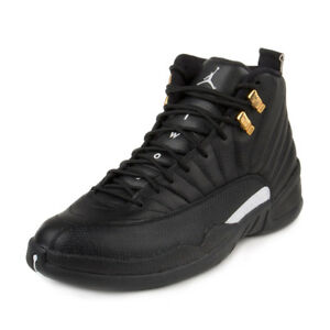 039ce96a61800f Nike Mens Air Jordan 12 Retro Black White-Metallic Gold 130690-013 ...