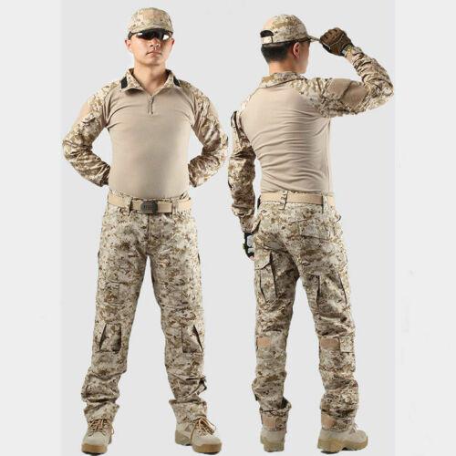 Men/'s Uniform Military Combat Airsoft Frog Tactical Suit Set  Shirt Pants Tops