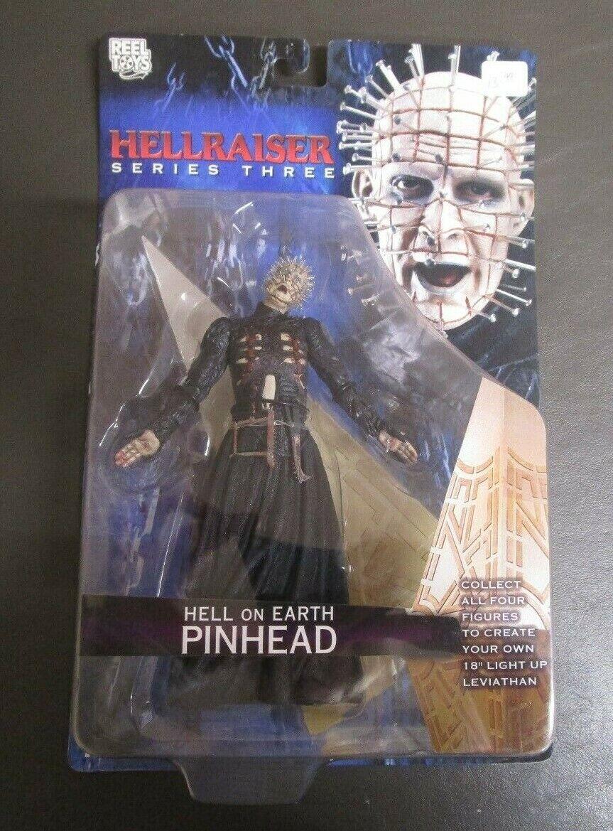 Hell on Earth Pinhead Hellraiser NECA REEL TOYS Series Three 3 MOC GV
