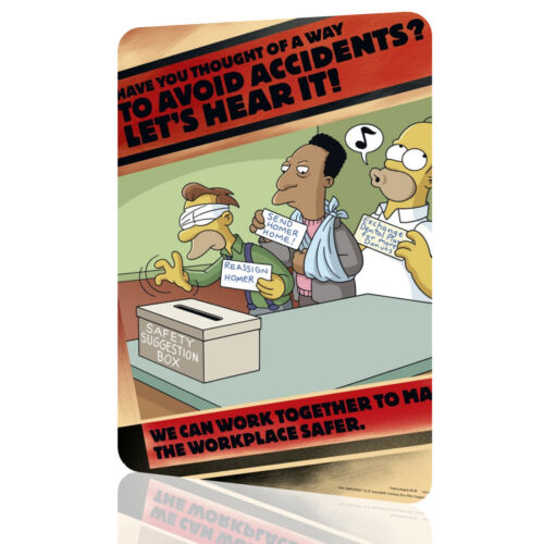 "METAL TIN SIGN The Simpsons /""Lets Heard It/"" Security Collection 6 Decor Wall Art"