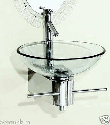bathroom glass basin Wall mounted STAND + towel rail sink (JUST STAND)