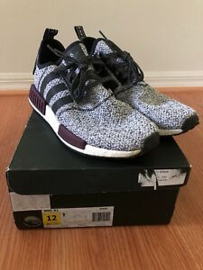 buy online 9e916 b735b Image is loading Adidas-NMD-R1-Champs-Exclusive-Grey-Burgundy-Men-