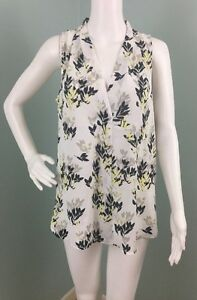 NWT-Womens-Vince-Camuto-Floral-Print-Sleeveless-Blouse-Top-Sz-M-Medium