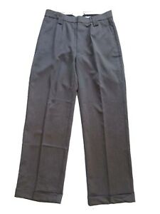 Mens-1940s-Swing-Vintage-Style-Grey-Fishtail-Look-Trousers-With-Turn-Up-Hems